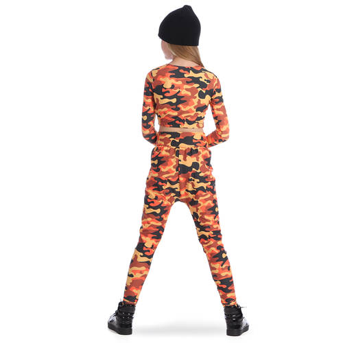 Orange Camo Harem Pant : AC5316