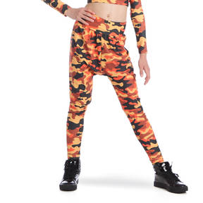 Youth Orange Camo Harem Pant