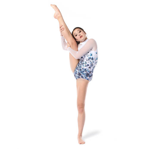 Watercolor Floral Mesh Leotard : AC5318