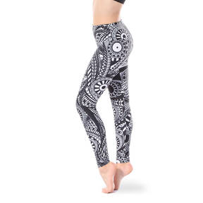 Youth Mandala Mid Rise Leggings