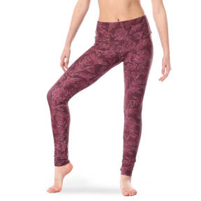 Youth Linear Floral Mid Rise Leggings