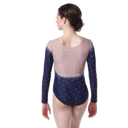 Jeweled Long Sleeve Leotard : AC5364