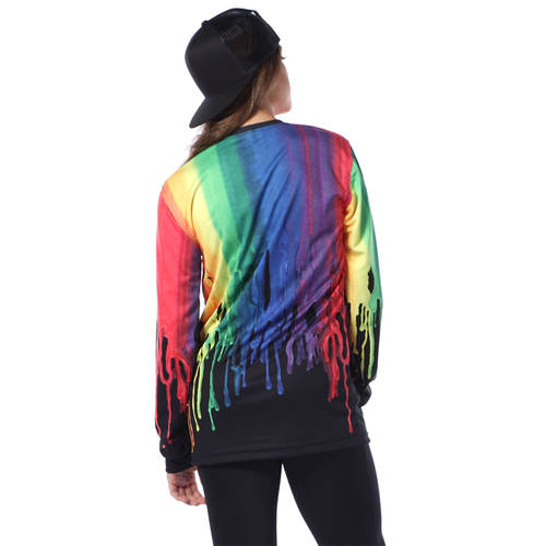 Colorful Paint Drip Long Sleeve Tee : AC5369