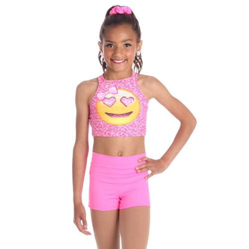 Youth Emoji Crop Top : AC5372C