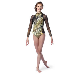 Youth Baroque Raglan Mesh Leotard