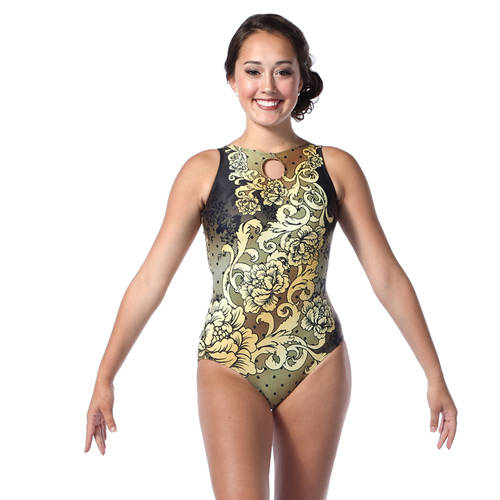 Youth Baroque Keyhole Tank Leotard : AC5388C