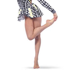 Houndstooth Peplum Skirt