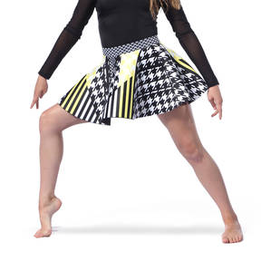 Youth Houndstooth Neoprene Skater Skirt
