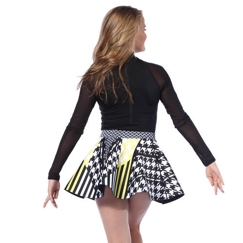 Youth Houndstooth Neoprene Skater Skirt : AC5391C