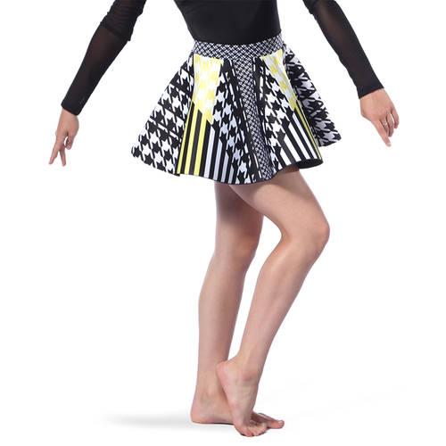 Houndstooth Neoprene Skater Skirt : AC5391