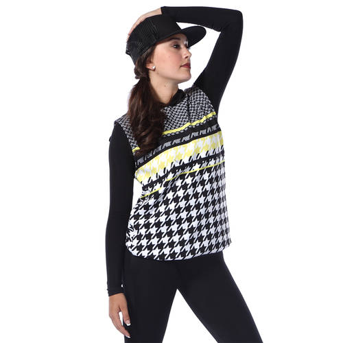 Youth Houndstooth Cut Off Hoodie : AC5394C