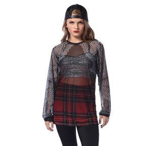 Punk Rock Princess Mesh Long Sleeve Tee