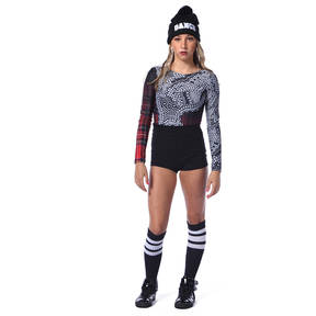 Punk Rock Princess Long Sleeve Leotard