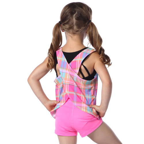 Youth Boomerang Criss Cross Back Tank : AC5410C