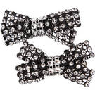 Two Tone Small Rhinestone Clips : AC60