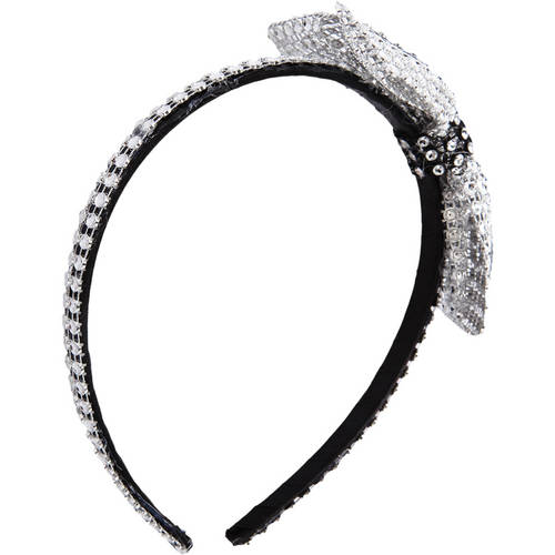 Rhinestone Headband with Contrast Trim : AC62