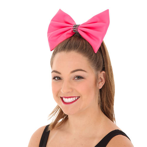 Large Leatherette Bow with Contrast Trim : AC67