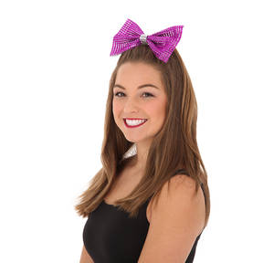 Large Rhinestone Bow with Contrast Trim