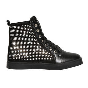Alexandra Youth Rhinestone High Top Dance Sneakers