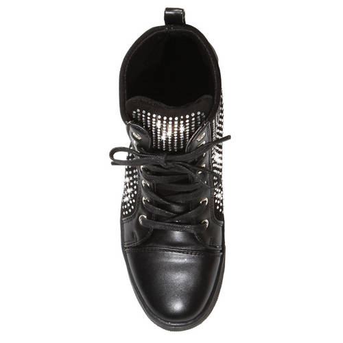Alexandra Youth Rhinestone High Top Dance Sneakers : AC9C