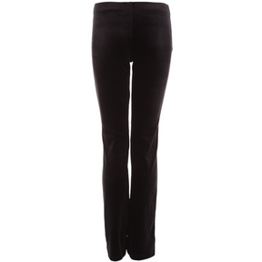Girls Black Velvet Jazz Fitted Pant