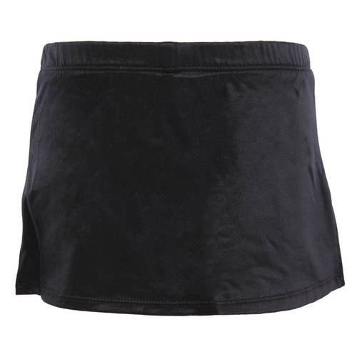 Black A-Line Skirt with Shorts : BS312