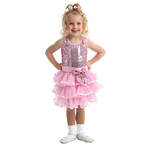Girls Pink Sequin Dress : C103