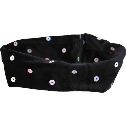 Black Velvet Sequins Headband : H0064