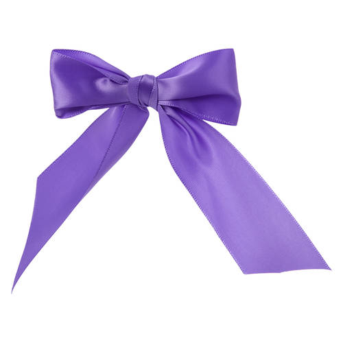 Lavender Bow Barrette : H0137