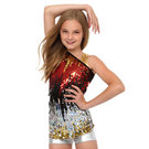 Youth Sequin Asymmetrical Top : JG126C