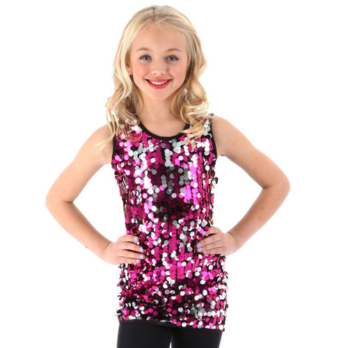 Youth Sequin Tank Tunic : JG127C