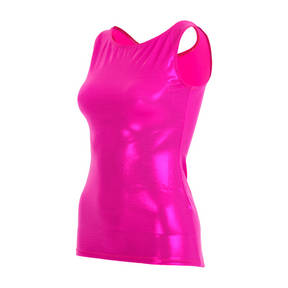 Youth Fuchsia Metallic Foil Tank