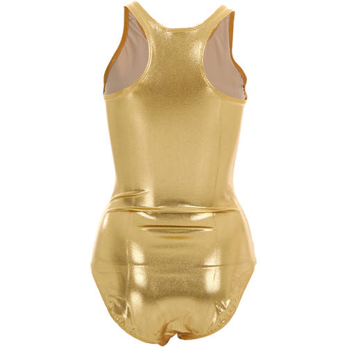 Gold Fog Foil Racerback Leotard : M171