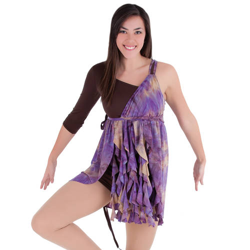Purple Waterfall Dress : M173