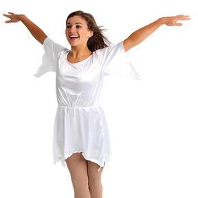 Youth White Satin Dress