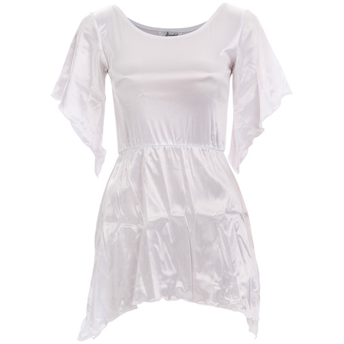 Youth White Satin Dress: m230C
