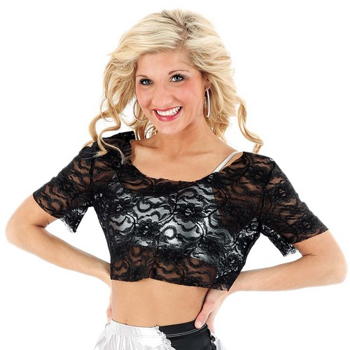 Alexandra Lace Scoop Neck Top : M243