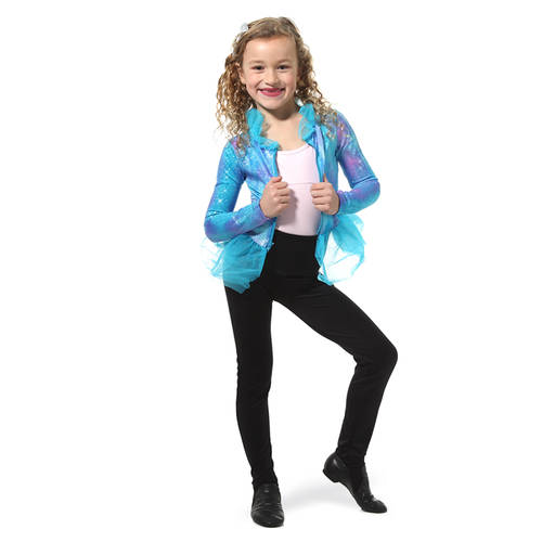 Blue Peplum Party Dance Jacket : M538