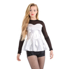Sweetheart Peplum Long Sleeve Top : M550
