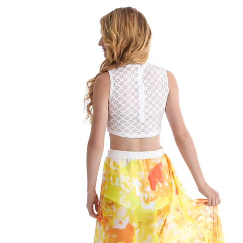 Lace Mock Crop Top : M552