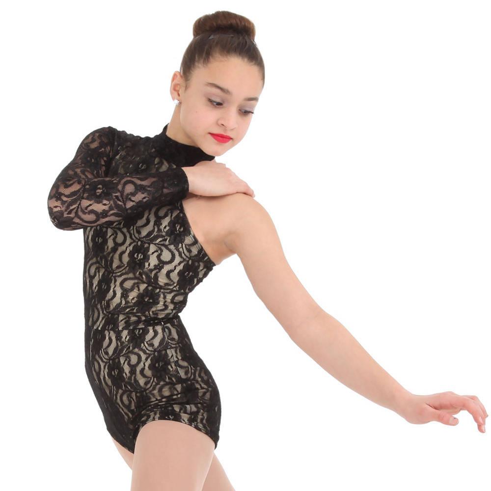 ef00ad670cf3 Alexandra One Shoulder Lace Biketard