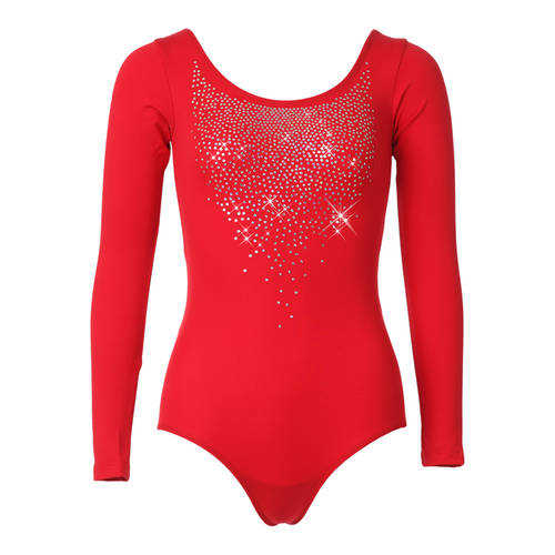 Red Sequin Long Sleeve Leotard : M560