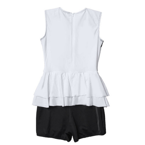 Color Block Peplum Biketard : M562
