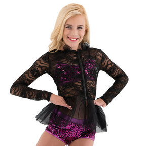 Youth Lace Peplum Jacket