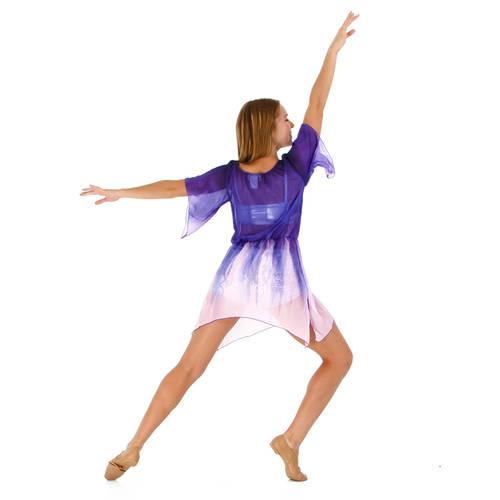 Purple Waterfall Dress : M591