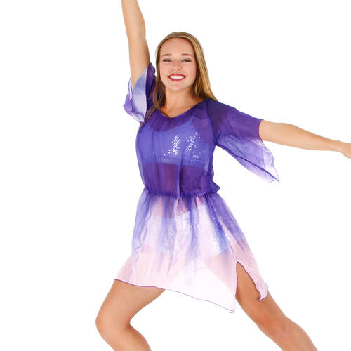 Purple Waterfall Dress : M591
