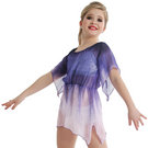 Girls Purple Waterfall Dress : M591C