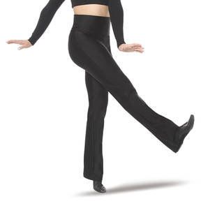 Black High Waist Jazz Pant