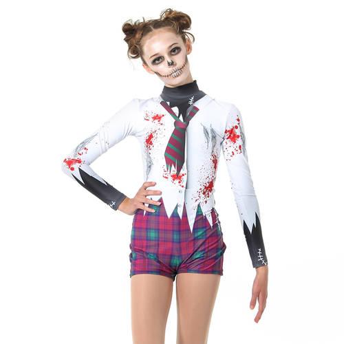 Zombie Schoolgirl Biketard : MD5096