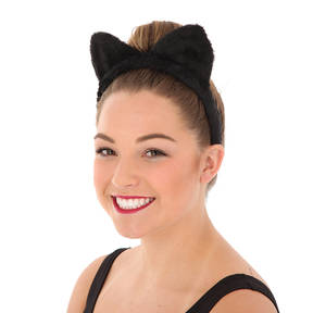 Furry Cat Ears Black One Size